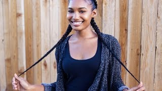 Feed in Braids on Natural Hair!!