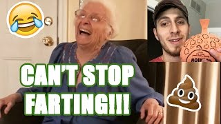 PRANKING GRANDMA: SHE WON'T STOP FARTING!! | Ross Smith