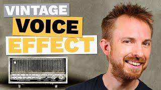 Vintage Effect For Voice Over (Black & White Film/Old Vinyl)
