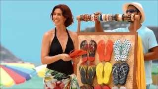 Maria Clara Gueiros no filme de Havaianas