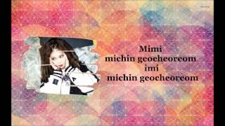 4Minute - 미쳐(Crazy) Lyrics