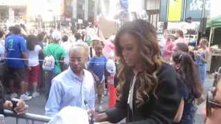 "Singer Michelle Williams debuts new song ""Say Yes"" at Good Morning America and poses withs fans"