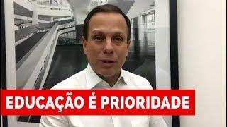 João Doria anuncia a contratação de mais 1.200 educadores para as escolas municipais