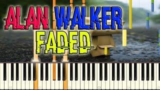 Alan Walker - Faded Piano Cover + Free midi file download & MP3
