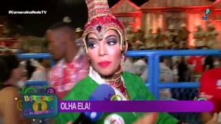 Na Sapucaí, ex BBB Mayara foge de repórter por conta de contrato