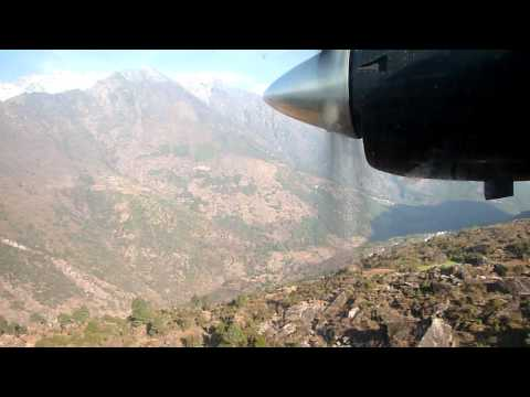 Airplane taking off from Lukla Airport in Nepal – Worlds Most Dangerous Airport