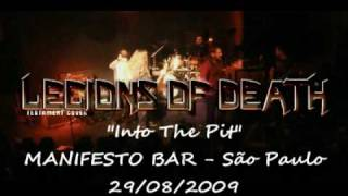 "LEGIONS of DEATH - Testament cover plays ""Into the pit"""