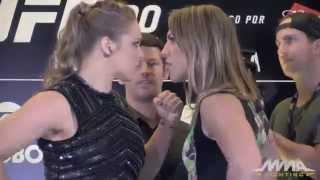 Ronda Rousy fica cara-a-cara com Bethe Correia - Disputa do Cinturão nesse Sábado 01/08/15