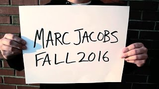 Marc Jacobs Fall 2016 - Bootleg Video