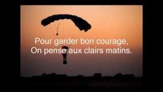 Ô douce France (chant militaire) - Paroles