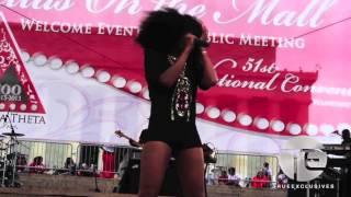 Brandy Headlines Delta Sigma Theta 100 Event & Smashes It!!