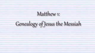 1 - Gospel of Matthew - Chapter 1 to 6