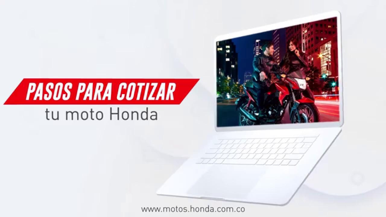 Pasos para cotizar tu moto Honda