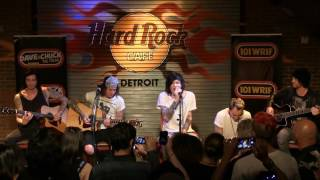 "Asking Alexandria performing ""What I've Done"" (Acoustic) at the WRIF Rock Girl Finals"