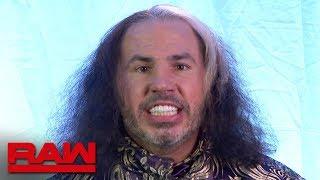 """Woken"" Matt Hardy makes a WrestleMania proclamation: Raw, March 26, 2018"