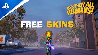 Destroy All Humans Adding New Free Skins