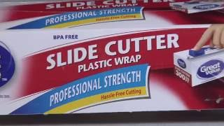 Food plastic wrap Slide Cutter