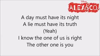 DisneySound|| Alex&Co So Far Yet So Close Lyrics