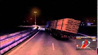 Euro Truck Simulator 2 - G27 - Fazendo gracinha e tombando...