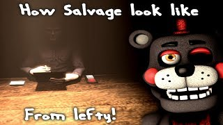 [FNAF/SFM] FNAF 6 Salvage scene - view from animatronic (Lefty)