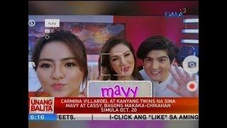UB: Carmina Villaroel at kanyang twins na sina Mavy at Cassy, bagong makaka-chikahan simula Oct. 20