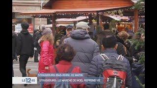 Strasbourg : le marché de Noël reprend vie