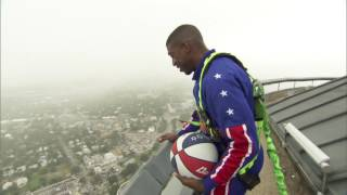 Amazing 583-Foot Basketball Shot | Harlem Globetrotters
