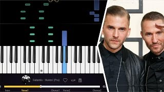 GALANTIS - HUNTER || PIANO TUTORIAL EASY ( how to play song cover)
