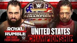 Wwe2k19/ WWE ROYAL RUMBLE 2019/ RUSEV VS SHINSUKE NAKAMURA/ UNITED STATES CHAMPIONSHIP