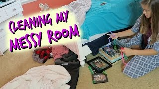 CLEANING MY MESSY ROOM | EMMA MARIE'S WORLD