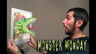 Monster Monday  - Drawing a 3D Dragon
