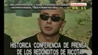 Indio Solari le explica a la prensa lo que sus seguidores buscan en sus shows (Olavarría, 16-8-1997)