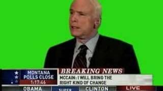 Stephen Colbert McCain Greenscreen  -- Original