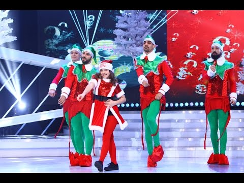 Ionela Țăruș și 1st Class, dans pe scena Next Star, în ediția specială de Crăciun