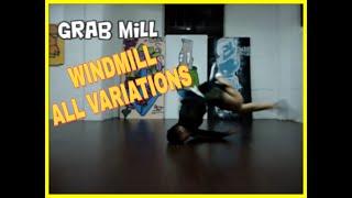 WINDIMILL MASTER - BBOY TURY ALL VARIATIONS width=
