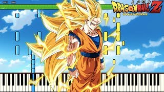 Goku Ascends To SSJ3 ! AHHHHHHHHHHHHHHHHHHHHHHHHHHH!! Dragon Ball Z OST (Piano Tutorial) [Synthesia]