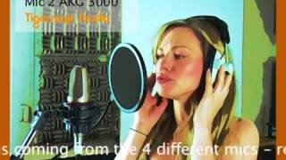 Mic Shootout at Tigersonic Studio Neumann U87 vs Oktava 319 vs Shure SM58 vs AKG 3000 female singer