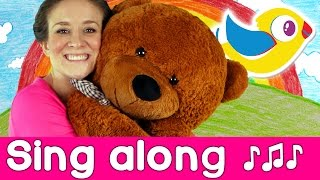 Sing Along - Teddy Bear Song - with lyrics | Starring Marty Moose!