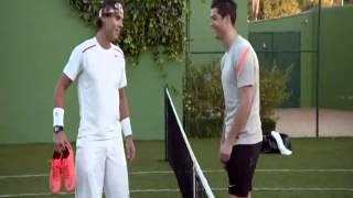 Cristiano Ronaldo vs Rafael Nadal Comercial Nike.(Mercurial vapor 3) width=