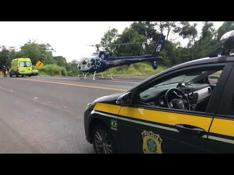 PRF atende acidente em Nova Laranjeiras do Sul/PR - Cidade Portal
