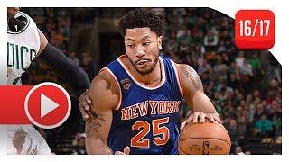 Derrick Rose Full Highlights vs Celtics (2017.01.18) - 30 Pts, 10 Reb, 5 Ast, BEAST!