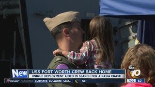 Crew of USS Fort Worth returns home