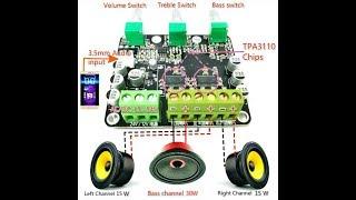 2.1 Channel Digital Tube Power Bass Audio Plate Amplifier TPA3110 Chips Amplifier HIFI Amplifier