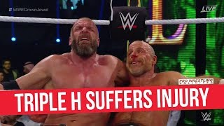 Triple H Suffers Injury In Crown Jewel Main Event