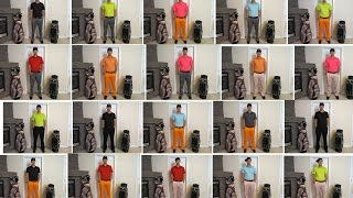 88 Different Golf Outfits - Stop Motion Video