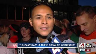 Record number of runners take off in KC Marathon