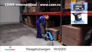 CSWR International - importator HanseLifter - Motostivuitor WH2000