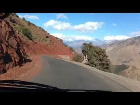 Driving through the atlas mountains