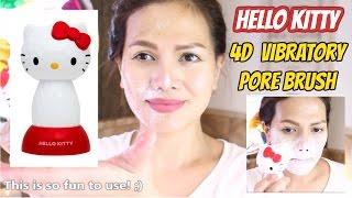 HELLO KITTY 4D Vibratory Pore Brush - White