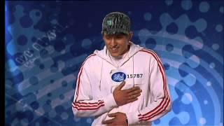 Danny Saucedo sjunger I Swear under sin första audition -  Idol 2006 (TV4)